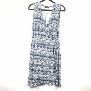 Stitch Fix Papermoon Knit Faux Wrap Dress Blue XL